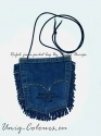 Blue jeans-pocket bag