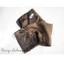 Brown re-fab silk scarf