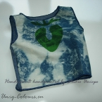 Baby blue design top