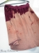 Red dip-dye skirt