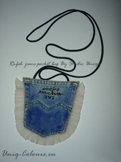 Jeans-pocket art-bag — Studio-Unicps
